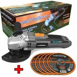 Amoladora Gladiator 4 1/2 Pulg 115mm 700w Aa415 + 5 Discos