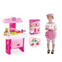 Juguete Cocina + Set De 19 Accesorios Mini Chef's
