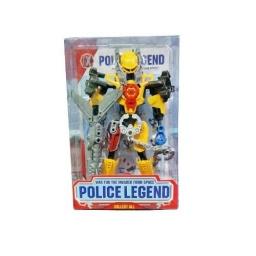 Juguete De Acción Robot Police Transformer Convertible