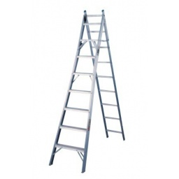 Escalera Convertible Cuprum Aluminio 3.50m Altura 13peldaño