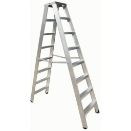 Escalera Tijera Doble Cuprum Aluminio 1.83m Altura 6peldaños