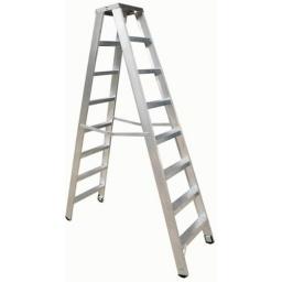 Escalera Tijera Doble Cuprum Aluminio 2.13m Altura 7peldaños