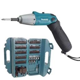 Atornillador A Batería Makita 4,8v + Accesorios Y Maletín 6723 DW