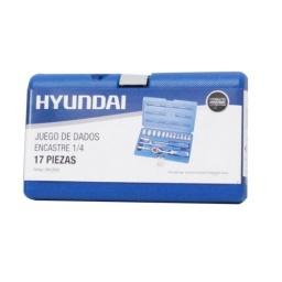 Juego De Dados 1/4 Cromo Vanadio 17 Piezas Hyundai Acerix
