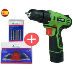 Atornillador A Bateria 12 V Casals Español + Regalos Acerix