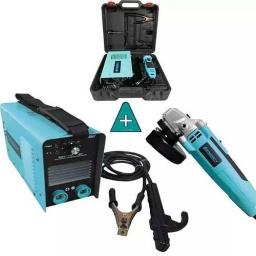 Soldadora Inverter Electrodo 140amp + Amoladora 4 1/2 Energy
