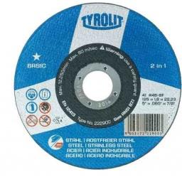Disco De Corte 4½'' Tyrolit Basic X1mm Caja X25 Unidades