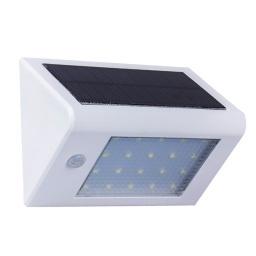 Foco solar triangulo c/ sensor de movimiento. Blanco