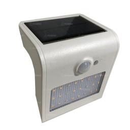 Foco solar de pared tipo L con luz trasera y sensor de movimiento. Blanco - Acerix