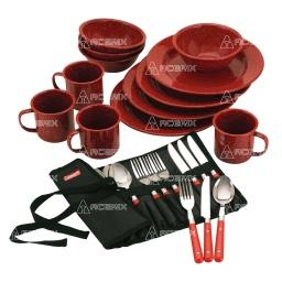 Set de Vasos Platos Y Cubiertos Para Camping Coleman - Acerix