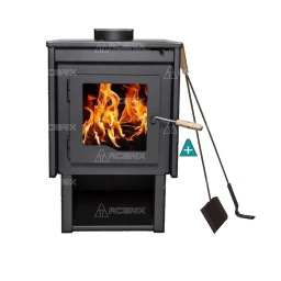 Estufa Calefactor A Leña Alto Rendimiento Tromen Eco Del Sur + Regalos - Acerix
