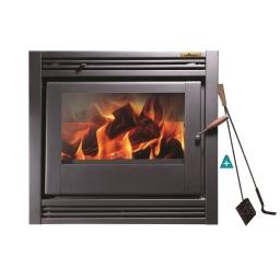 Estufa Calefactor A Leña Empotrable Tromen Hogar Alto Rend. + Regalos