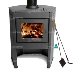 Estufa Calefactor A Leña Alto Rendimiento Tromen Prisma + Regalos