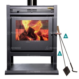 Estufa Calefactor A Leña Alto Rendimiento Tromen Calafate + Regalos