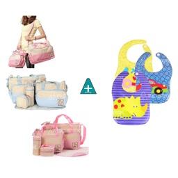 Bolso Maternal 5 Piezas Varios Colores - Acerix