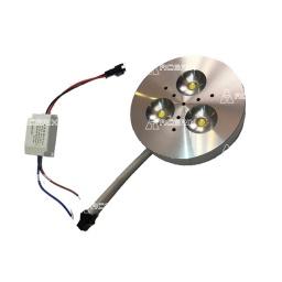 Foco led de embutir/ pegar 3 leds aluminio - Acerix