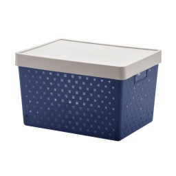 Caja Organizadora Símil Ratan Calada Premium
