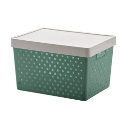 Caja Organizadora Simil Ratan Con Tapa Organizadores Premium