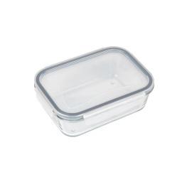 Tupper Bowl De Vidrio Rectangular Con Tapa Hermético
