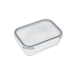 Tupper Bowl De Vidrio Rectangular Hermético Con Tapa