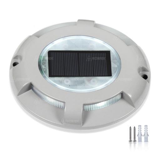 Farol solar de piso tipo tortuga aluminio