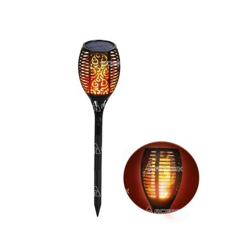 Antorcha Solar Led De Jardín Imitación Fuego - Acerix